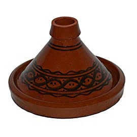 Cooking Tagines Wave Pattern Moroccan Pot Small 5 Measurement: 8 inches wide Cook Chicken, Meat, Seafood or Vegeterian food Ideal for cooking on top of any kind of stove