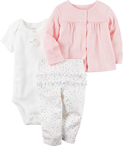 - Carter's Baby Girls' 3 Piece Textured Cardigan Set 6 Months