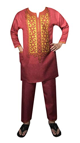 Decora Apparel African Traditional Dashiki Men Clothing Embroidery Shirt Pant Suit Wedding Attire Ankara Set