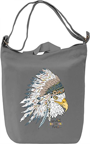 Indian eagle Borsa Giornaliera Canvas Canvas Day Bag| 100% Premium Cotton Canvas| DTG Printing|
