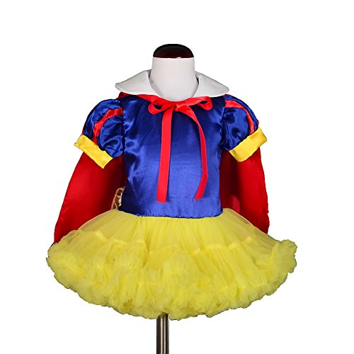 Snow White Toddler Costumes (Dressy Daisy Girls' Snow White Princess Costume Fancy Dresses With Cape Size 3T Multicoloured)