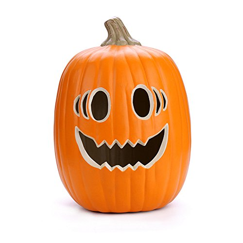 Sayhi- Halloween Pumpkin Light, Trick or Treat Pumpkin Lamp with Warm White Light, Perfect for Decoration,Bar,Party Celebration,7W Bulb Included (E)