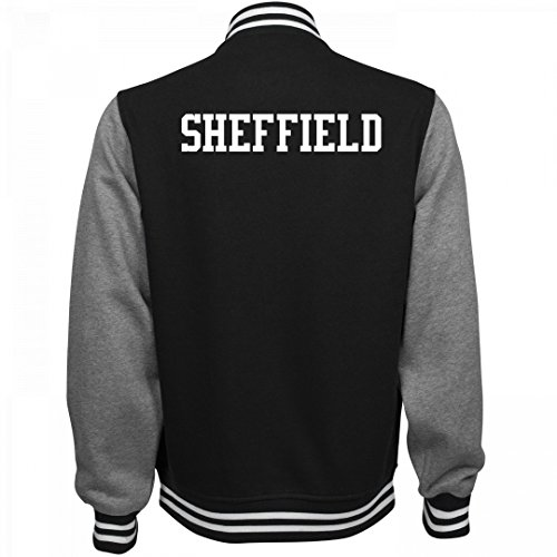 fan products of Sheffield Comfy Sports Fan Gear: Unisex Fleece Letterman Varsity Jacket