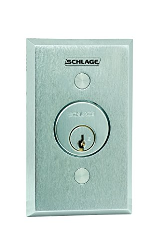(Schlage Electronics 653-04 Keyswitch, SPDT Maintained Single Direction, Satin Chrome)