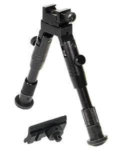 "UTG Shooter's SWAT Bipod, Rubber Feet, Height 6.2""-6.7"""