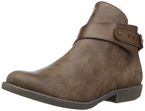 Blowfish Women's Adah Ankle Bootie Taupe Lonestar Pu