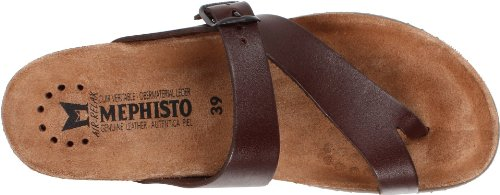 Mephisto Women's Helen Thong Sandals Dark Brown S2iC4fiUV