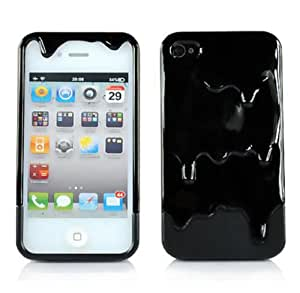 Sannysis 1PC Lovely Cute Special 3D Melt Ice-cream Skin Hard Case Cover For Iphone 4 4S (Black)
