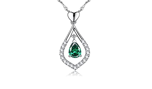 Dorella May Birthstone Gift Love Heart Jewelry For Wife Women Green Emerald For