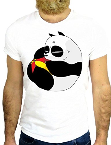 T SHIRT JODE Z2730 GENMA PANDA COOL CARTOON MANGA ROCK JAPAN FUNNY GGG24 BIANCA - WHITE M