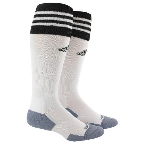- adidas Copa Zone Cushion II Soccer Socks (1-Pack), White/Black, Large