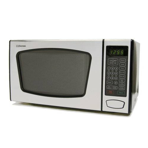 Emerson MW8991SB 0.9Cu.Ft. 900 Watt Touch-Control Microwave Oven, Stainless Steel