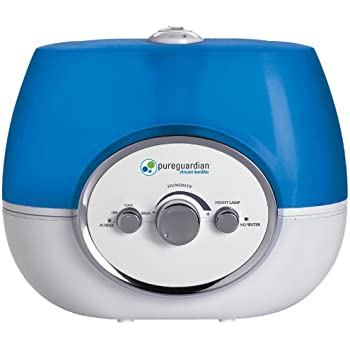 PureGuardian 9.6L Output per Day Ultrasonic Warm and Cool Mist Humidifier,  Single Room, Home, Desk, Office, Bedroom, Baby, Easy Quiet Operation, Night Light, Auto Shut-Off, Pure Guardian H1510