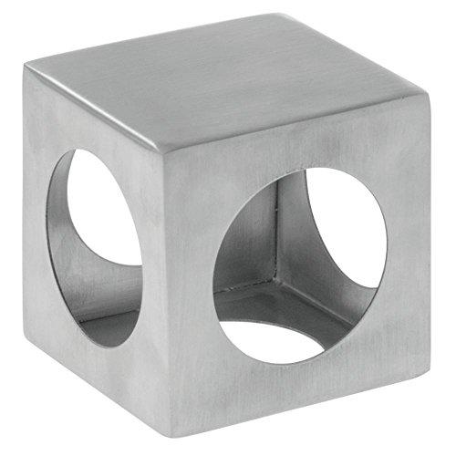 Metal Display Riser Square Laser-Cut Stainless Steel Metal Riser - 3'' Square by Hubert