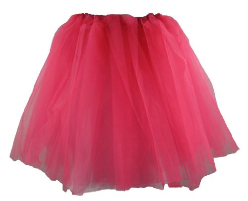 [Teen & Adult Neon Hot Pink Dance or Ballet Tutu] (Hot Costumes For Teens)