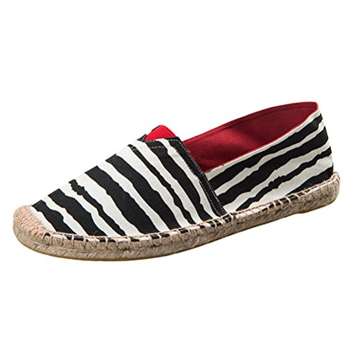 Vogstyle Unisex Adulto Zapato Flats Ballerinas Slip-On Zapatos de Lona Art 14 Schwarz
