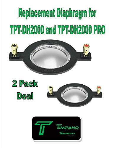 Pro Timpani ((2) Replacement Diaphragm Timpano TPT-RPDH2000 for TPT-DH2000 Horn Driver 1 Pair)