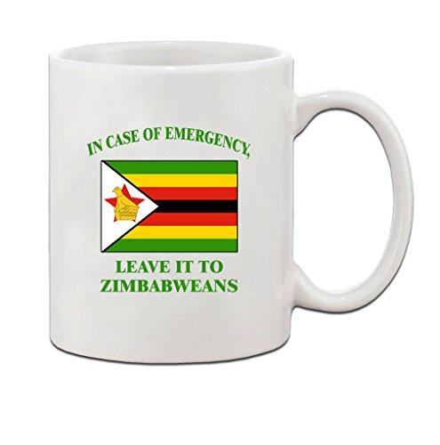 In Emergency Leave It Zimbabweans Zimbabwean Zimbabwe Coffee Tea Mug Cup - Holiday Christmas Hanukkah Gift for Men & Women