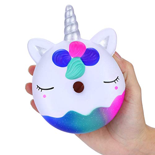 Stress Reliever Toys, 1 PC Galaxy Squishies Doughnut Super Slow Rising Squeeze Scented Stress Reliever Toy 2019 New (AS Show) ()