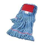 Boardwalk BWK503BLCT Super Loop Wet Mop Head, Cotton/Synthetic, Large Size, Blue (Case of 12)