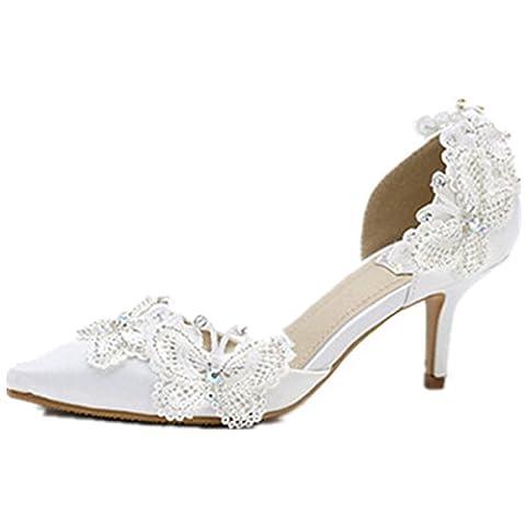 Generic Women's Satin Wedding Pump Shoes (12 M US)