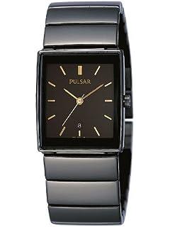 Pulsar Modern PXQ537X1 - Reloj de Caballero de Cuarzo, Correa de Acero Inoxidable Color Negro