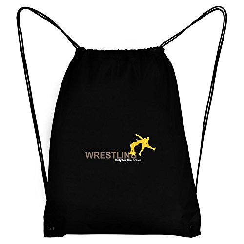 Teeburon Wrestling Only for the brave Sport Bag by Teeburon