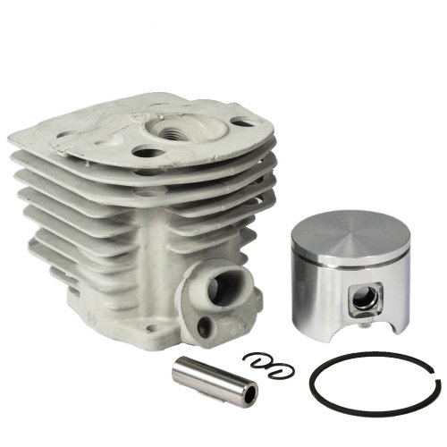 Max Motosports Cylinder Piston Rebuild Kit Assembly Fits Husqvarna 55 51 Chainsaws 46mm # 503 16 (Piston Rebuild Kit)