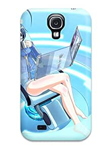 [tlCqiVl9310xYjNk]premium Phone Case For Galaxy S4/ Tan Pixiv Anthropomorphism Tpu Case Cover
