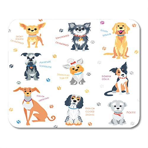 (Semtomn Gaming Mouse Pad American Colour Dogs of Different Breeds Cocker Spaniel Animal 9.5