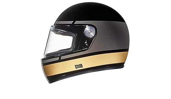 4320f819 Amazon.com: Nexx XG100R Street Motorcycle Vintage Helmet - Record - Black/ Grey/Gold - XXL: Automotive