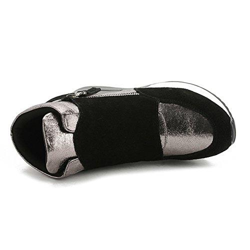 Sneakers Womens Hidden Zipper Casual Sneakers Side Wedge Black Daily Heel Fashion Sport Btrada PUxwBE6xq