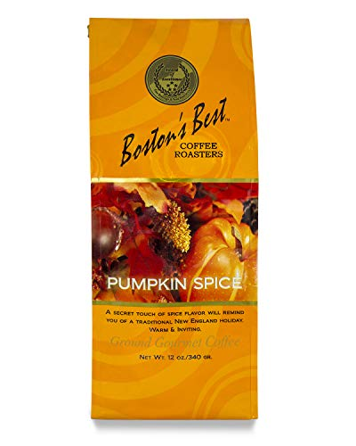 Boston's Best Boston's Best Coffee Roasters Pumpkin Spice Ground Coffee, 12 Oz, Pumpkin Spice, 12 Ounce () For Sale