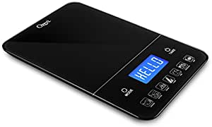Ozeri Touch III 22 lbs (10 kg) Digital Kitchen Scale with Calorie Counter, in Tempered Glass