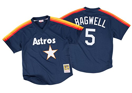 Authentic Jersey (Jeff Bagwell Houston Astros Mitchell & Ness Authentic 1991 BP Jersey (Medium))