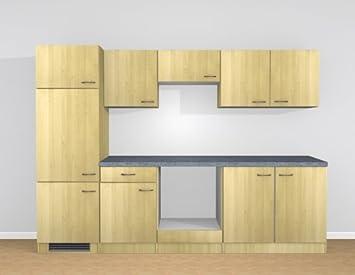 Küchenblock 270 cm Birke ohne Geräte mit Arbeitsplatte - Bingo ...