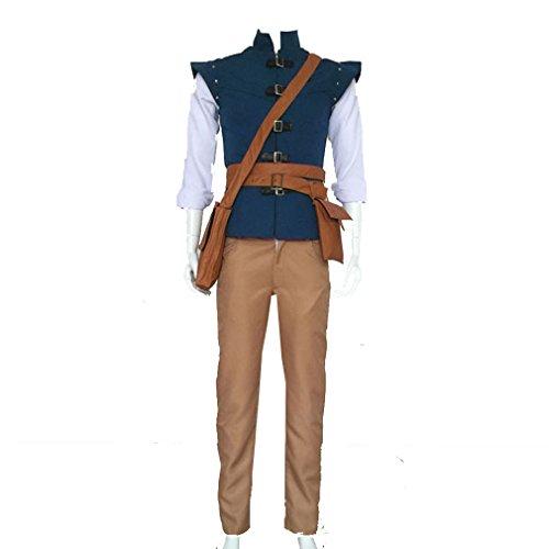 Cuterole Men Tangled Eugene Fitzherbert (Flynn Rider) Cosplay Costume Custom (Tangled Halloween Costumes For Adults)