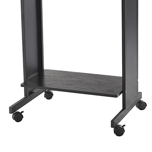 homcom 30 mobile standing workstation computer laptop desk on wheels buy online in uae. Black Bedroom Furniture Sets. Home Design Ideas