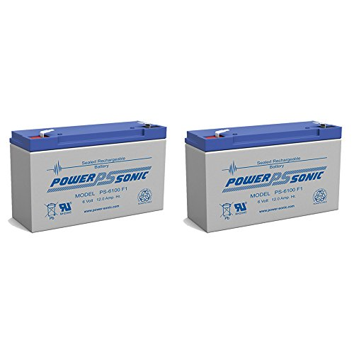 PS-6100 6V 12AH UPS Battery Replaces Gruber Power GPS-6-12, GPS12-6S - 2 Pack (Gruber Battery)
