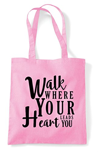 Bag Shopper Pink Light Heart You Where Statement Walk Tote Your Leads cqg0wRyRa