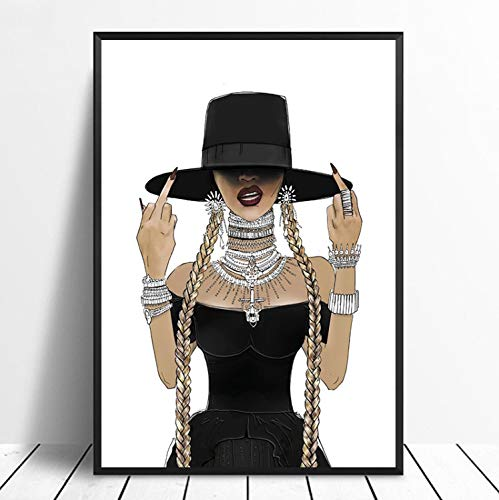 Beyonce Feminista Cantante Cartel De La Música De Impresión Banda De Música Cartel De La Estrella Arte De La Pared Imágenes Sala De Pintura Decoración ...