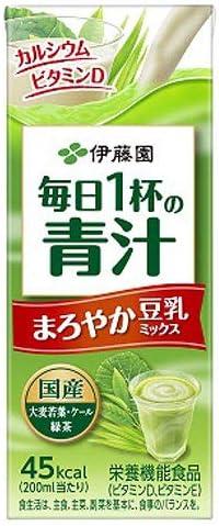 伊藤園 毎日一杯の青汁 まろやか豆乳ミックス 200ml×48本