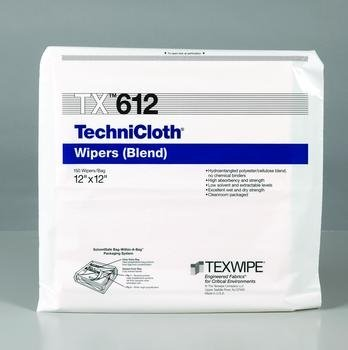 TechniCloth Wipers - 150 Wipers / Bag; Double-bagged, 12'' x 12'' (31 x 31 cm) - 1 case (1500 Each)