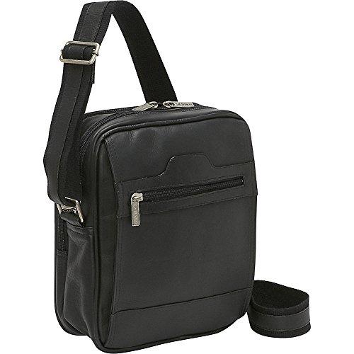 Vertical Leather Bag (Le Donne Leather Men's Day Bag (Black))