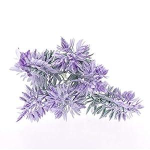 lipiny Artificial Flowers Lavender Bouquet in Purple Artificial Plant for Home Decor, Wedding,Garden,Patio Decoration,5 Pcs Per Bundle 2