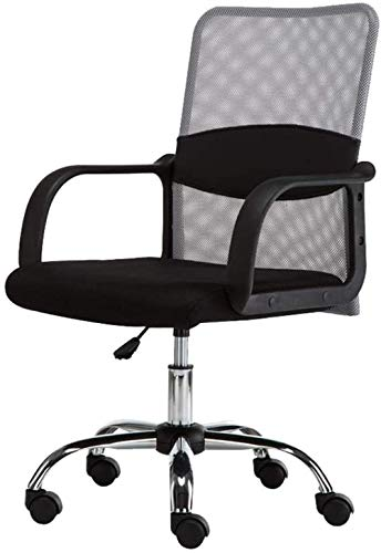 Computer Chair Home Office Chair Mesh Fabric Staff Swivel Chairs Office Chairs That Hold 300 Pounds Or More Black Gray