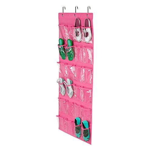 Honey-Can-Do 24-Pocket Non-Woven Over The Door Shoe Organizer, Pink (Honey Can Do Shoe Organizer compare prices)
