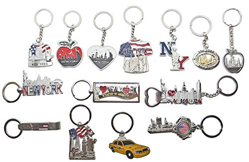14 New York Souvenir Keychain Collection (New York Souvenirs Keychains)