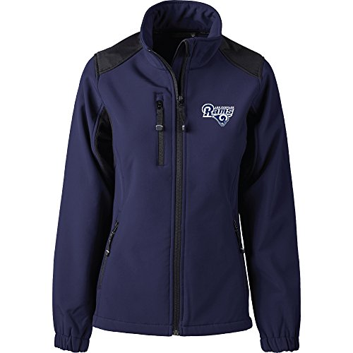 Dunbrooke Apparel NFL Los Angeles Rams Women's Softshell Jacket, Medium, Navy by Dunbrooke Apparel