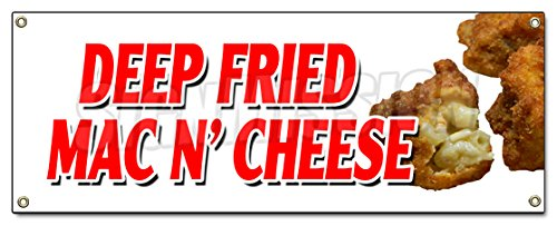 DEEP Fried MAC N' Cheese Banner Sign Macaroni and Cheese Baked hot